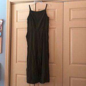 Olive colored jumpsuit